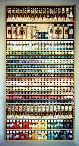 Bruce S Woodworks Paint Shelf